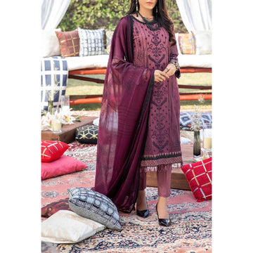 Z'URE 3PC Unstitched Printed Embroidered Lawn Suit WK-00697-B