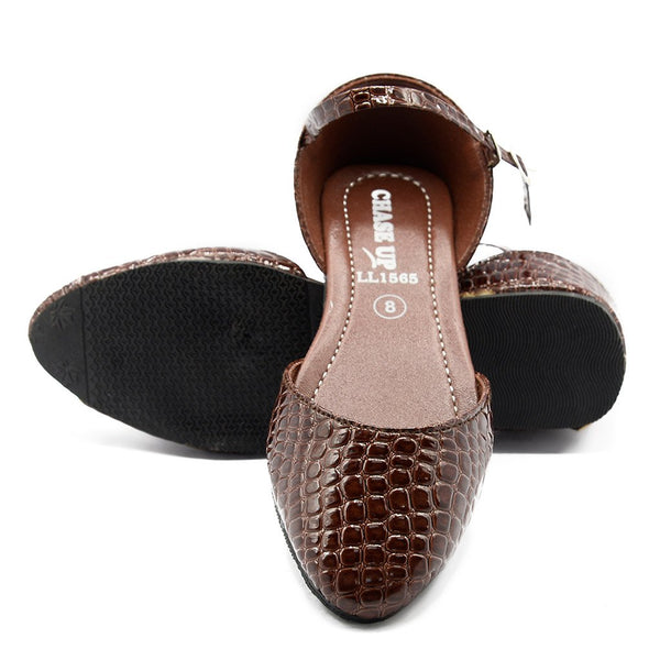 Women Slingback LL-1565 Brown