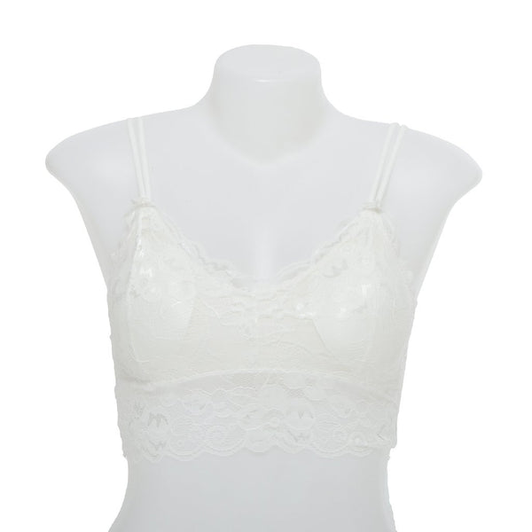 Women Fancy Net Bra - White