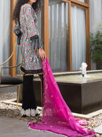 Rangreza Embroidered Mid Summer Un-Stitched Suit - ZS09