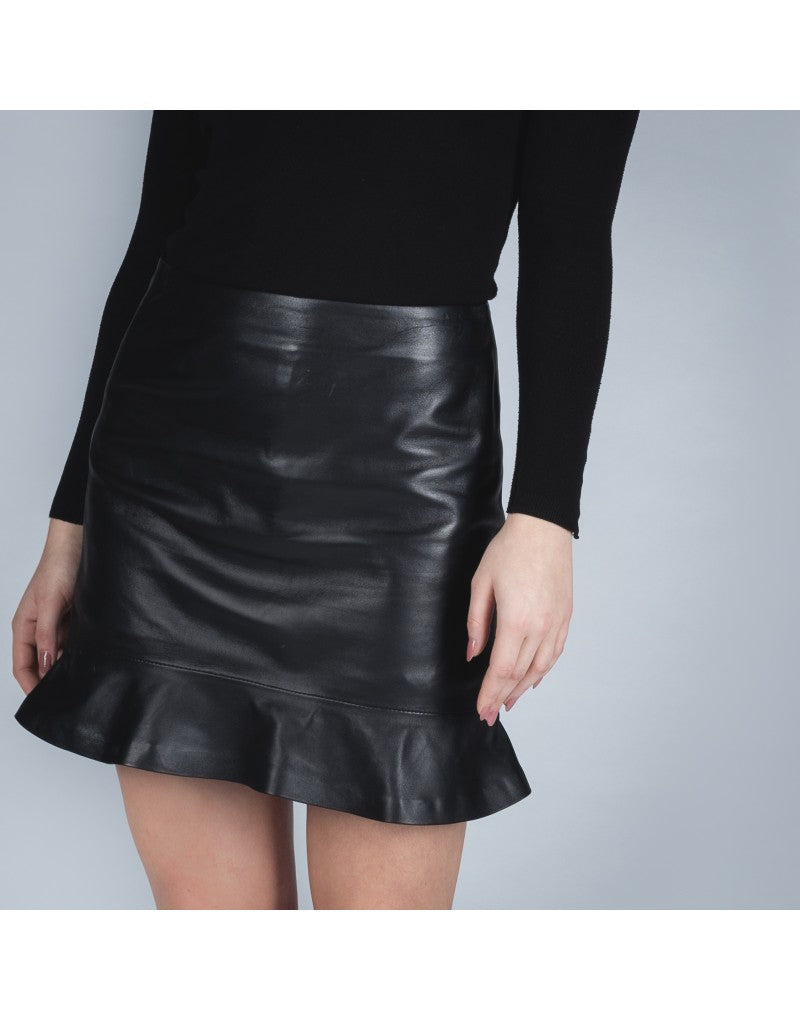 Ana leather skirt
