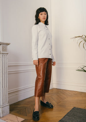 Ginza leather shirt