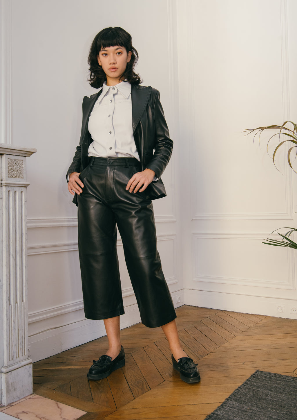 The leather culottes