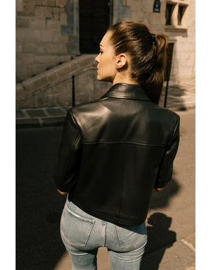 Maya leather jacket