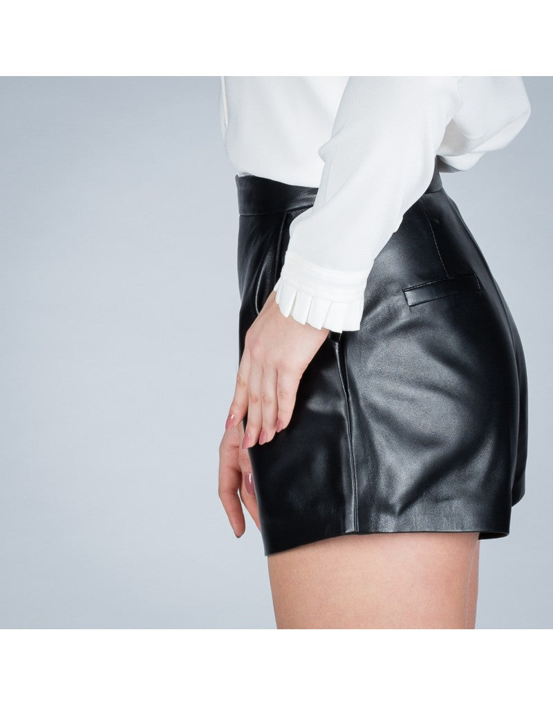 May leather shorts