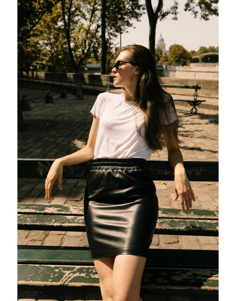 Yana leather skirt