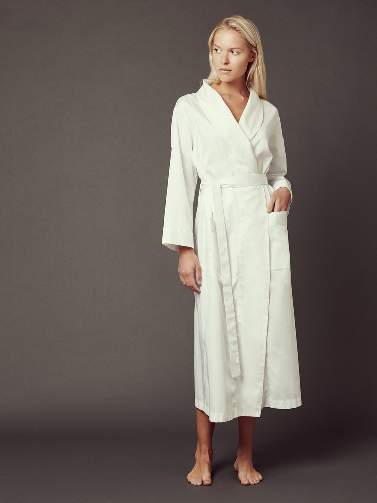 Loren White Robe