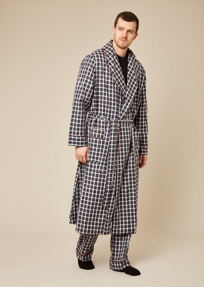 Pacino blue check robe