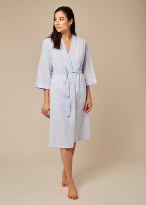 Taylor Blue Shell Robe