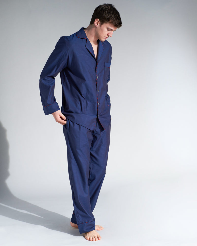 Brando Dark Blue Pyjamas