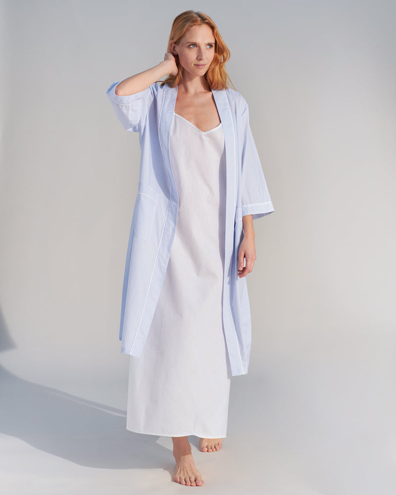 Load image into Gallery viewer, Taylor Blue Shell Robe