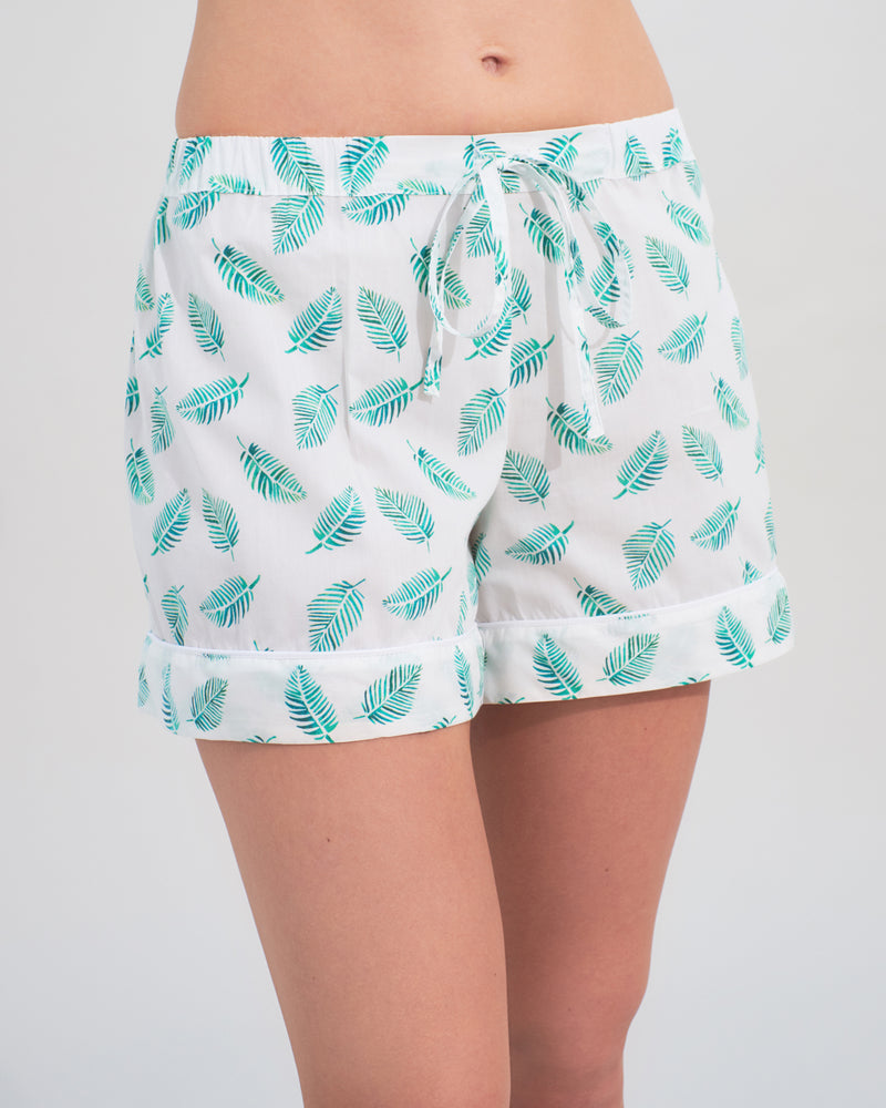 Palm Leaf Short Set