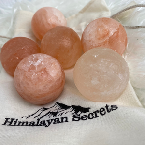 Himalayan + Massage + Stones + with+ cotton+ bag