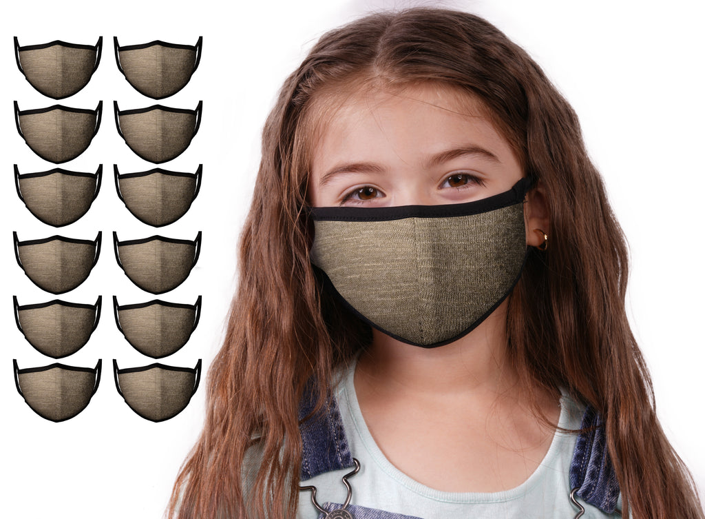 Mason Brand Masks Dark Olive 12 Pack | Face Mask | 100% Cotton | Made in USA | Reusable | Comfy Protective Washable Covering Cloth - Mason Brand Mask