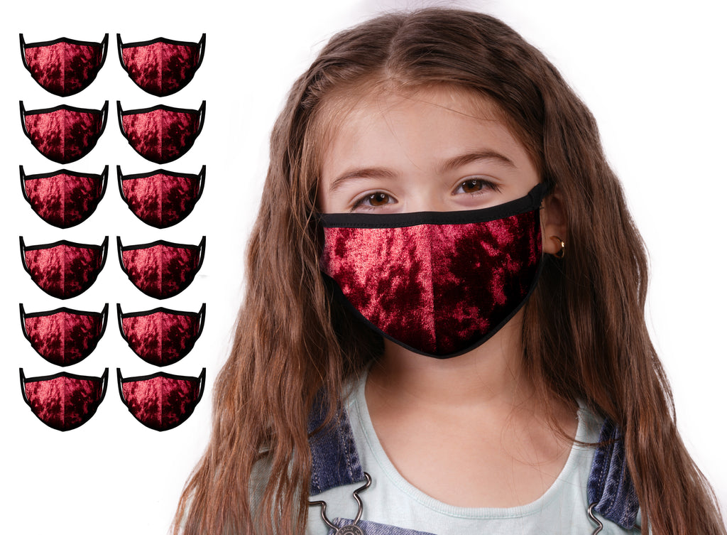 Mason Brand Masks Red Velvet 12 Pack | Face Mask | 100% Cotton | Made in USA | Reusable | Comfy Protective Washable Covering Cloth - Mason Brand Mask