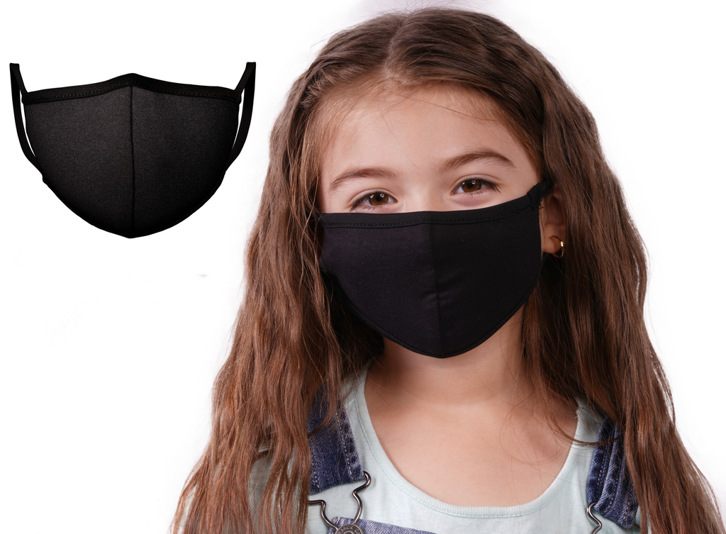 Mason Masks Black Protective Face Mask - Kids | 100% Cotton Face Masks | Made in USA | Multi-Layered Masks for Germ Protection, | Reusable | Kids - Mason Brand Mask