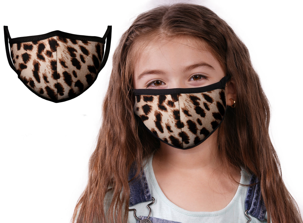 Cheetah | Face Mask | 100% Cotton | Made in USA | Reusable | Comfy Protective Washable Covering Cloth - Mason Brand Mask