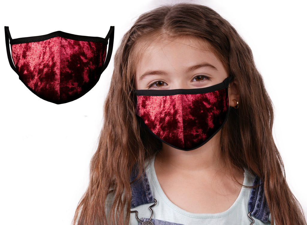 Red Velvet | Face Mask | 100% Cotton | Made in USA | Reusable | Comfy Protective Washable Covering Cloth - Mason Brand Mask