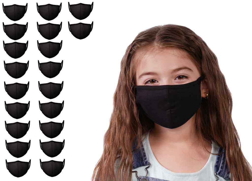 20 Pack Black Mason Masks Face Mask Kids - Mason Brand Mask