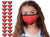 Mason Brand Masks Red 20 Pack | Face Mask | 100% Cotton | Made in USA | Reusable | Comfy Protective Washable Covering Cloth - Mason Brand Mask