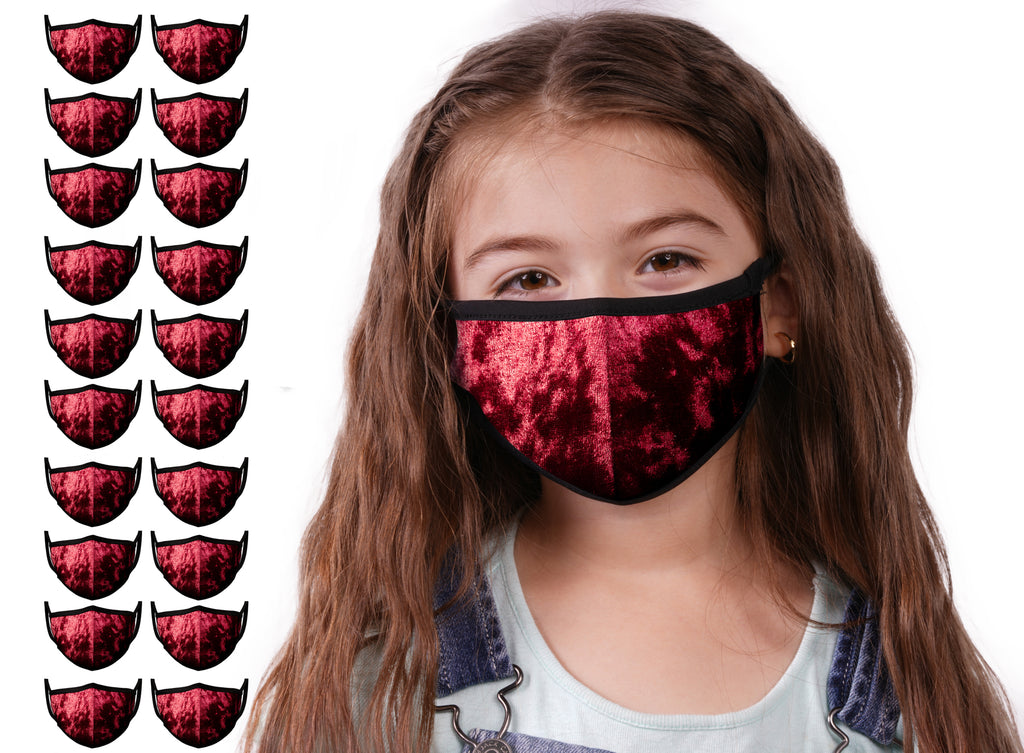 Mason Brand Masks Red Velvet 20 Pack | Face Mask | 100% Cotton | Made in USA | Reusable | Comfy Protective Washable Covering Cloth - Mason Brand Mask