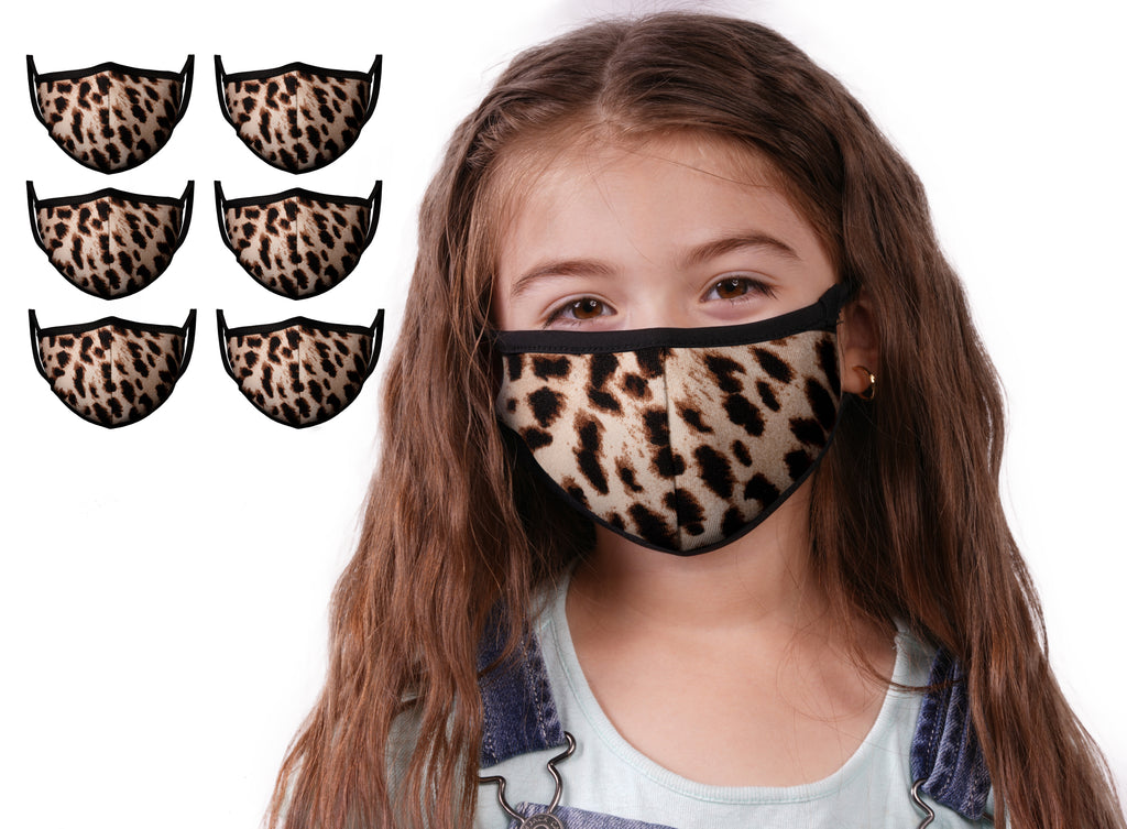 Mason Brand Masks Cheetah 6 Pack | Face Mask | 100% Cotton | Made in USA | Reusable | Comfy Protective Washable Covering Cloth - Mason Brand Mask