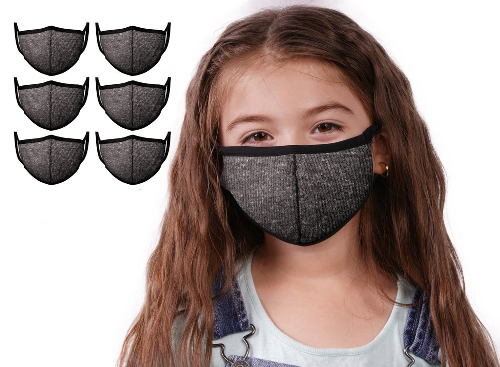 Mason Brand Masks Dark Grey 6 Pack | Face Mask | 100% Cotton | Made in USA | Reusable | Comfy Protective Washable Covering Cloth - Mason Brand Mask