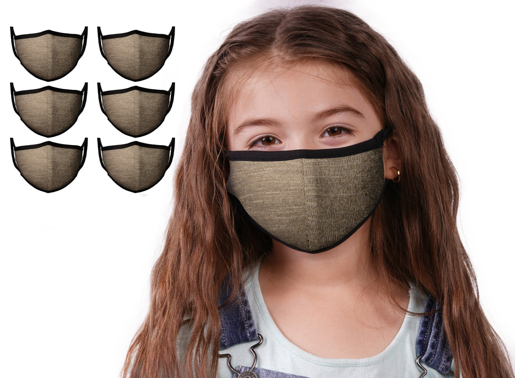 Mason Brand Masks Dark Olive 6 Pack | Face Mask | 100% Cotton | Made in USA | Reusable | Comfy Protective Washable Covering Cloth - Mason Brand Mask