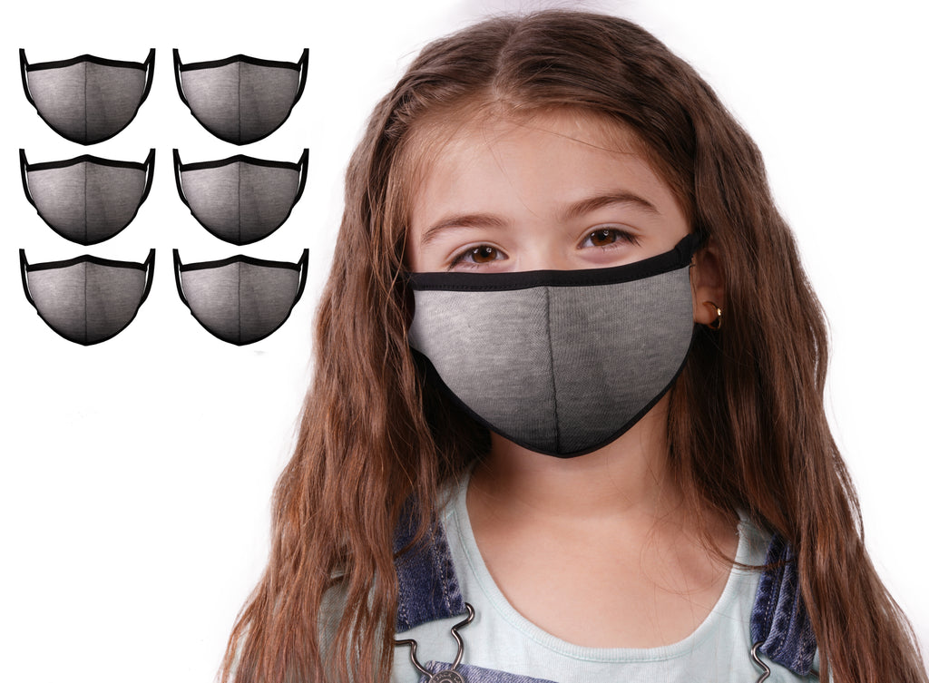 Mason Brand Masks Grey 6 Pack | Face Mask | 100% Cotton | Made in USA | Reusable | Comfy Protective Washable Covering Cloth - Mason Brand Mask