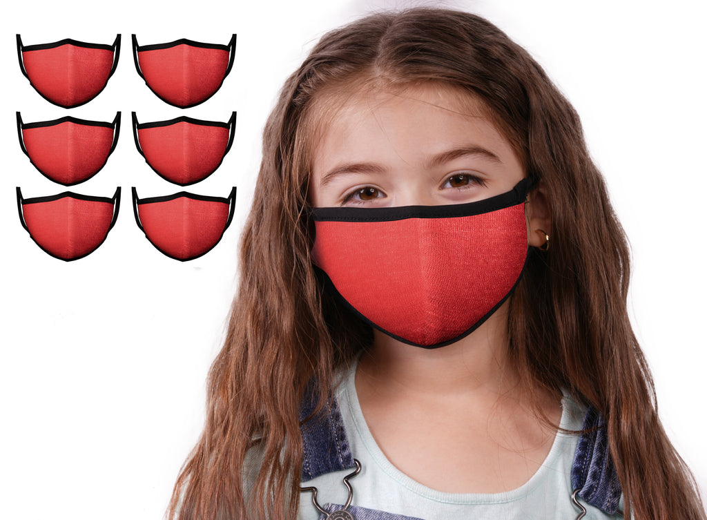 Mason Brand Masks Red 6 Pack | Face Mask | 100% Cotton | Made in USA | Reusable | Comfy Protective Washable Covering Cloth - Mason Brand Mask