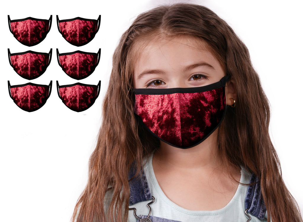 Mason Brand Masks Red Velvet 6 Pack | Face Mask | 100% Cotton | Made in USA | Reusable | Comfy Protective Washable Covering Cloth - Mason Brand Mask