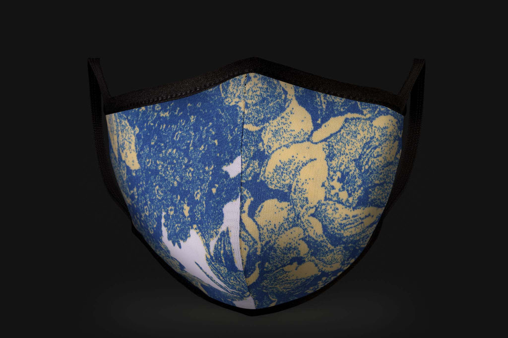 Abstract Blue - Mason Brand Mask