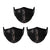 Mason Brand Masks Black Sequin 3 Pack | Face Mask | 100% Cotton | Made in USA | Reusable | Comfy Protective Washable Covering Cloth - Mason Brand Mask