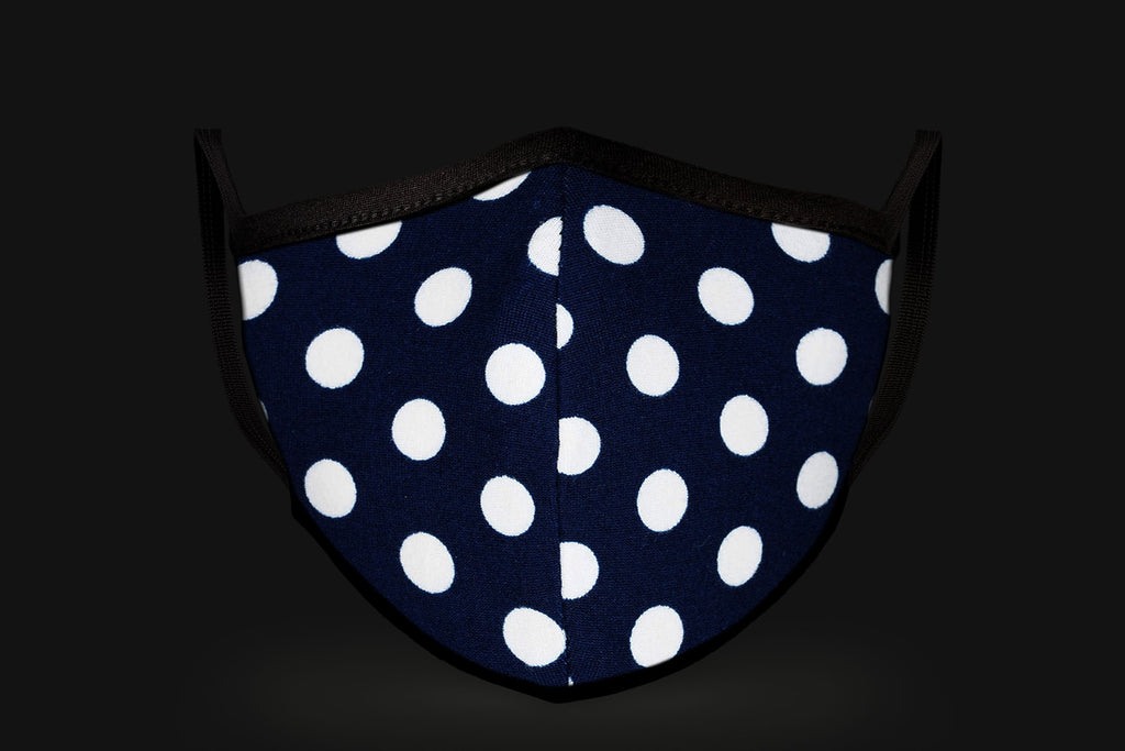 Blue Polka Dot - Mason Brand Mask