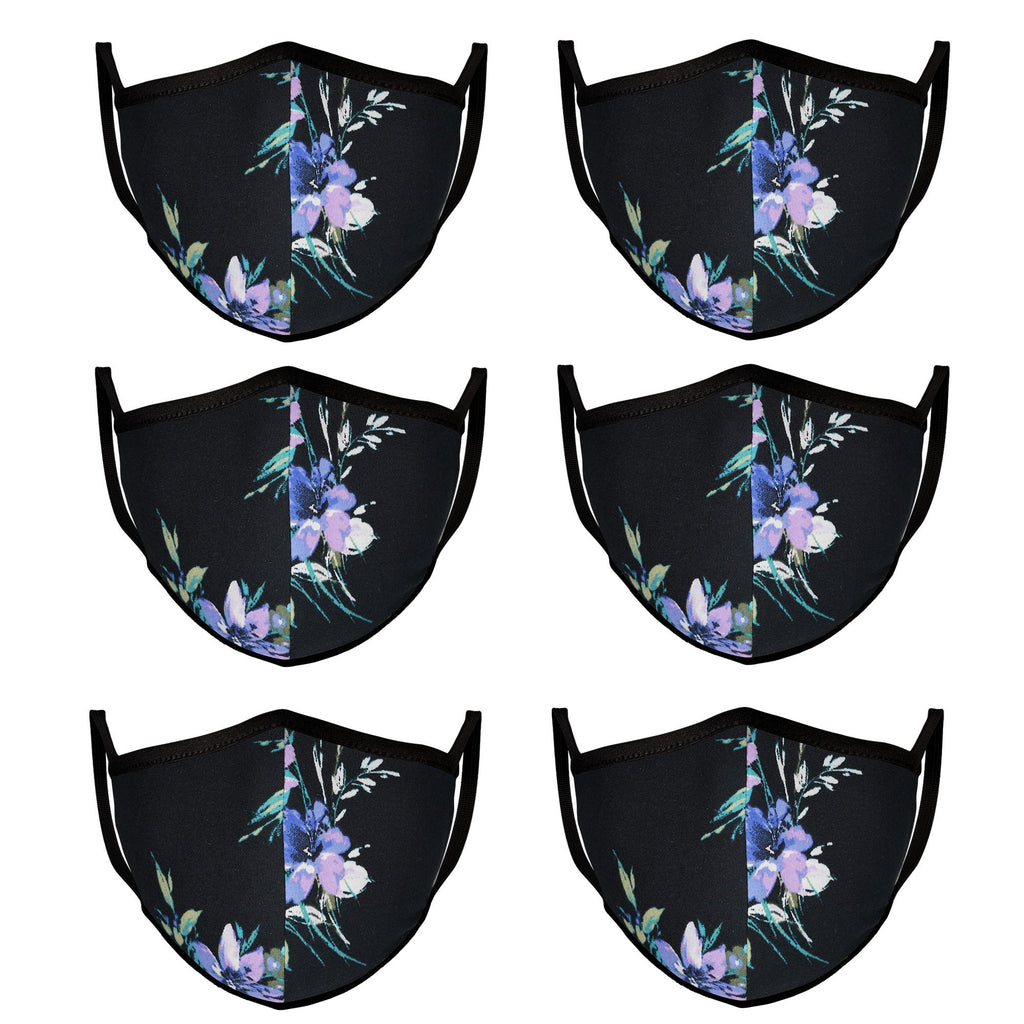 Mason Masks Midnight Rose Cloth Face Mask Reusable, Washable, and Made in USA (6 Pack) - Mason Brand Mask