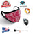 Bandanna Pink & Red Mason Brand Masks | 100% Cotton | Made in USA | Reusable, Adult Unisex, Size: One size (3 Pack) - Mason Brand Mask