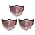 Mason Brand Masks Pink Sequin 3 Pack | Face Mask | 100% Cotton | Made in USA | Reusable | Comfy Protective Washable Covering Cloth - Mason Brand Mask