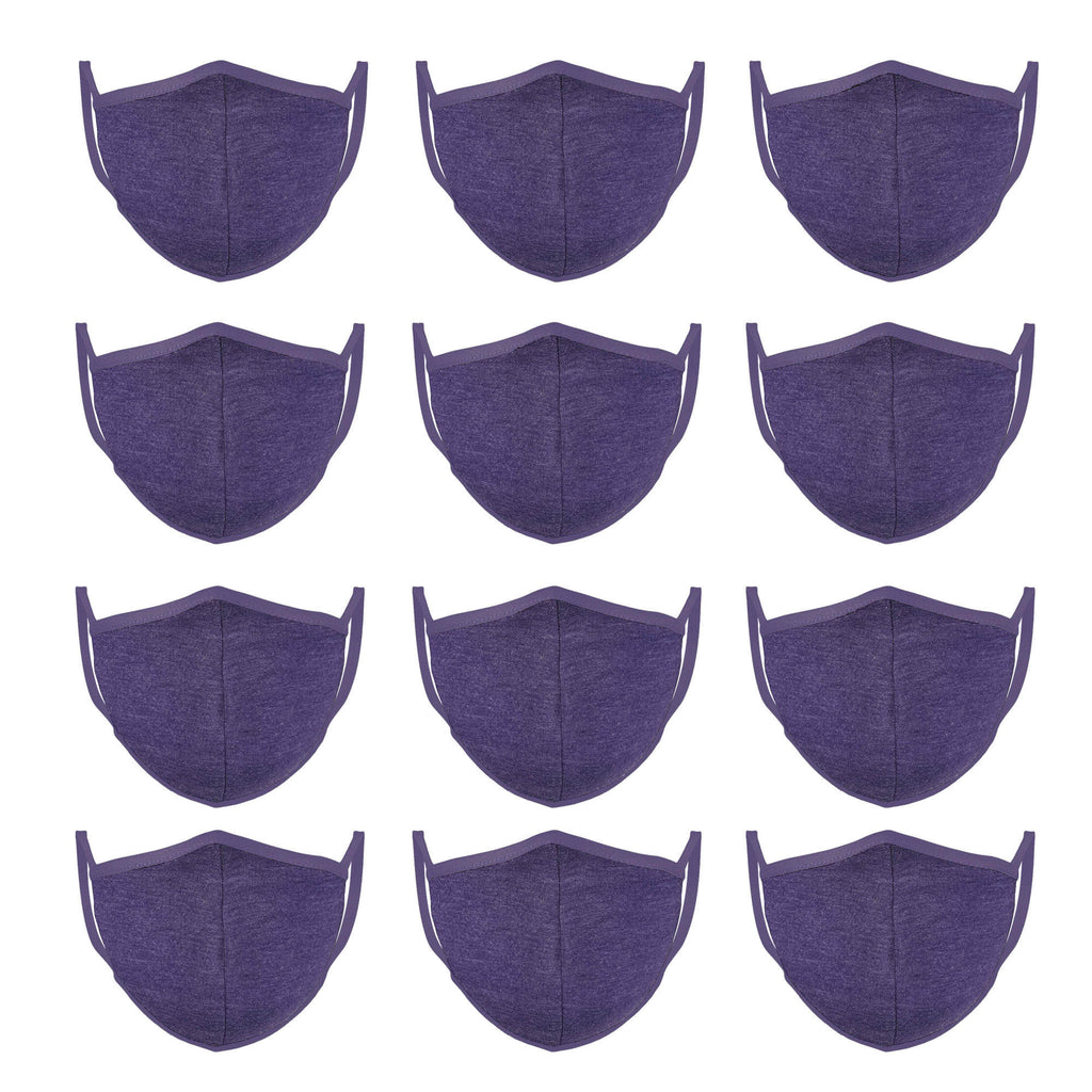 Lilac Mason Brand Masks | 100% Cotton | Made in USA | Reusable, Adult Unisex, Size: One size (12 Pack) - Mason Brand Mask