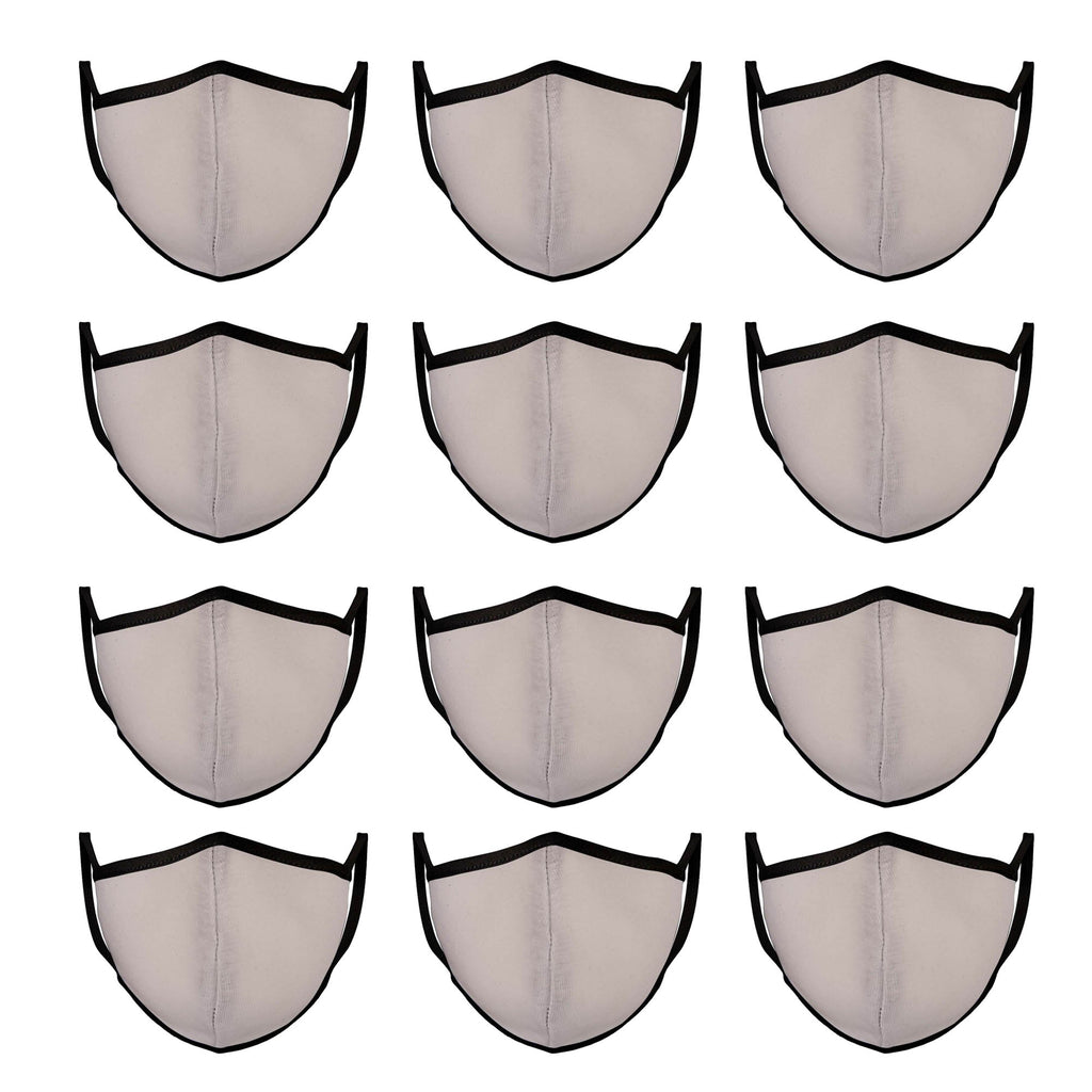 White & Black Mason Brand Masks | 100% Cotton | Made in USA | Reusable, Adult Unisex, Size: One size (12 Pack) - Mason Brand Mask