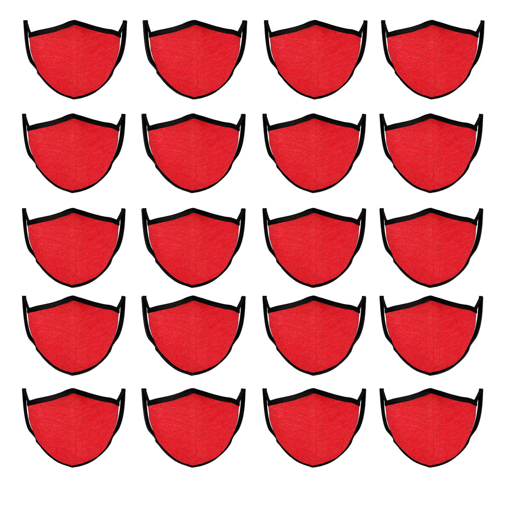 Mason Brand Masks Red | 100% Cotton | Made in USA | Reusable, Adult Unisex, Size: One size (20 Pack) - Mason Brand Mask