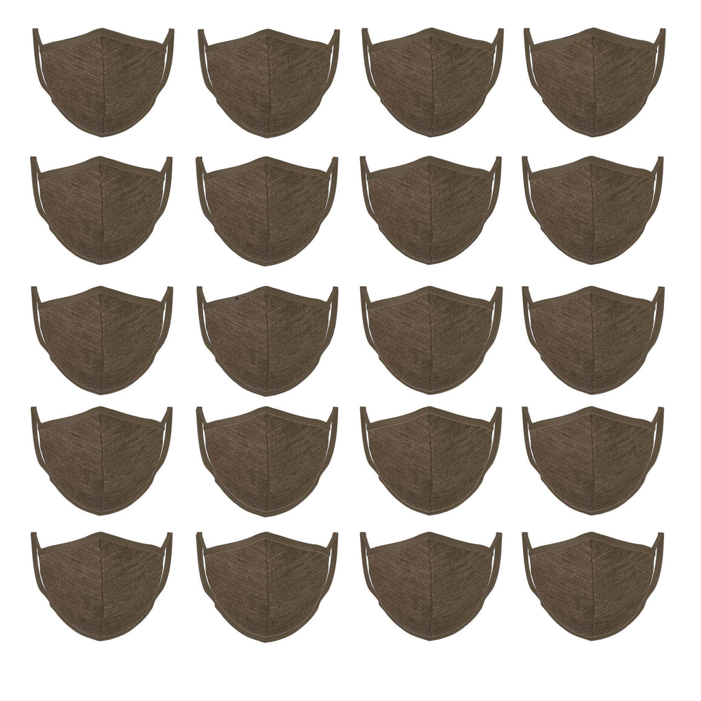 Mason Brand Masks Army Green | 100% Cotton | Made in USA | Reusable, Adult Unisex, Size: One size (20 Pack) - Mason Brand Mask