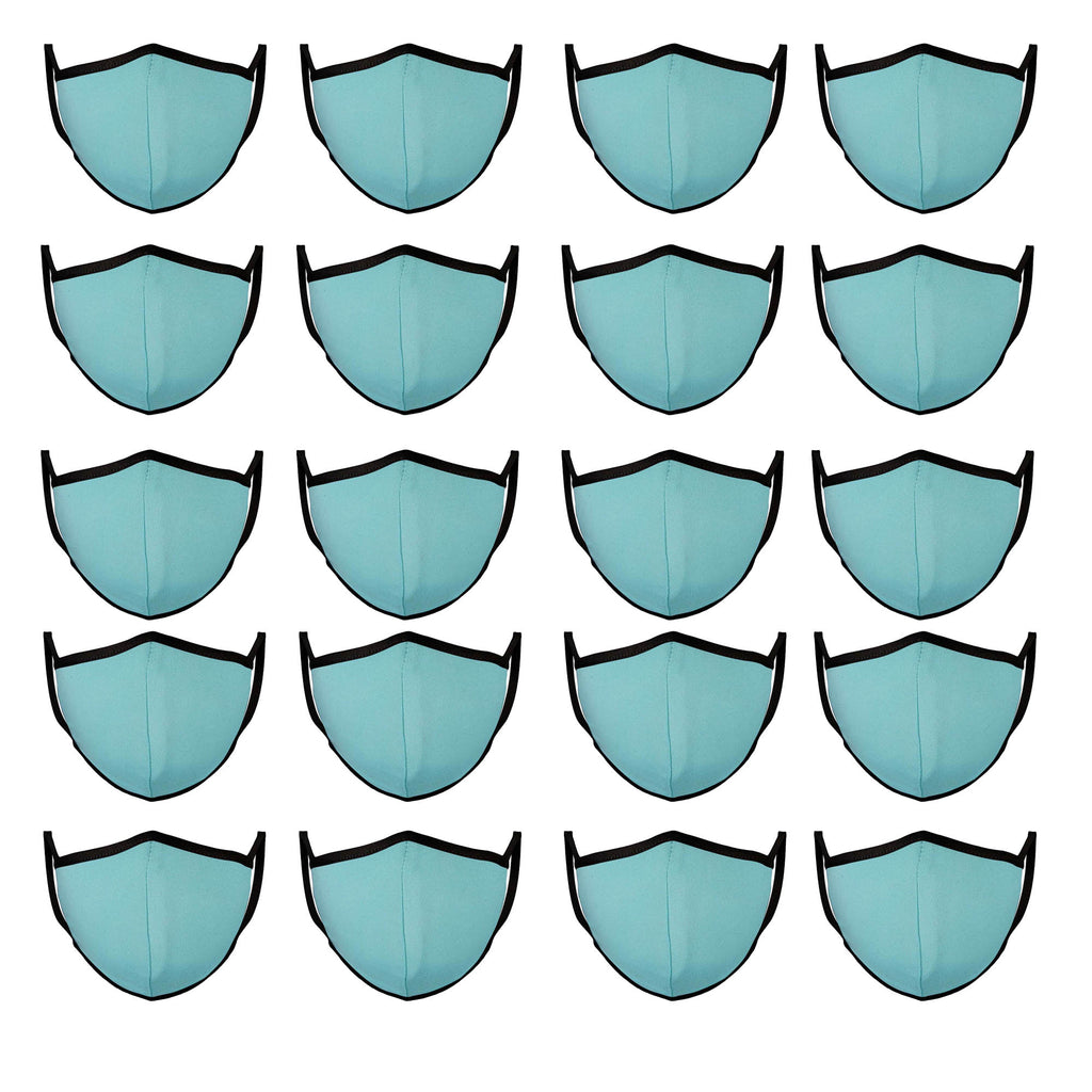 Mason Brand Masks Baby Blue | 100% Cotton | Made in USA | Reusable, Adult Unisex, Size: One size (20 Pack) - Mason Brand Mask