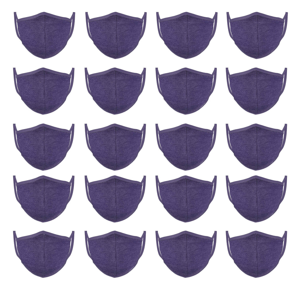 Lilac Mason Brand Masks | 100% Cotton | Made in USA | Reusable, Adult Unisex, Size: One size (20 Pack) - Mason Brand Mask