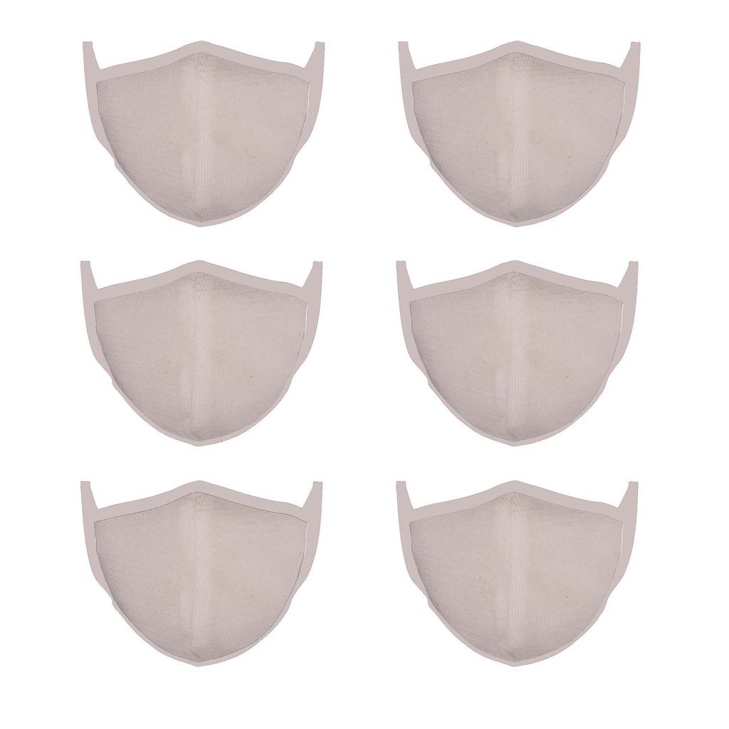 White Mason Brand Masks | 100% Cotton | Made in USA | Reusable, Adult Unisex, Size: One size (6 Pack) - Mason Brand Mask