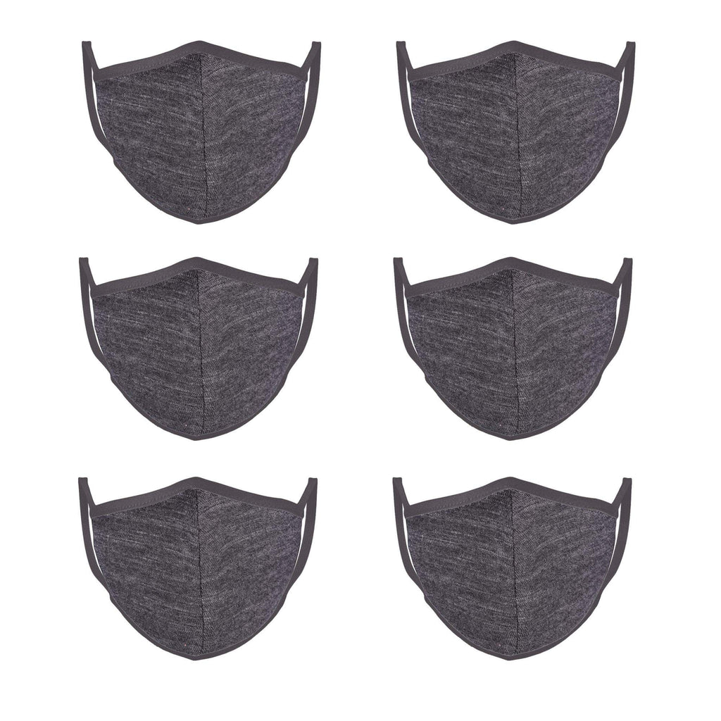Iron Gray Mason Brand Masks | 100% Cotton | Made in USA | Reusable, Adult Unisex, Size: One size (6 Pack) - Mason Brand Mask