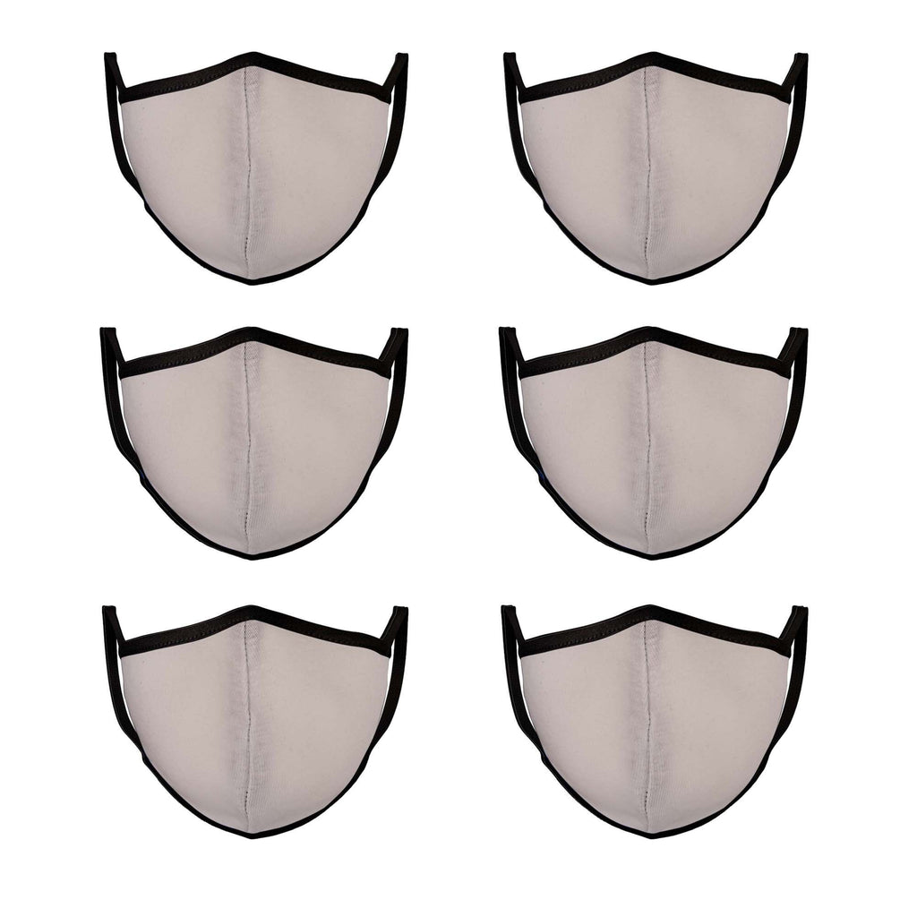 White & Black Mason Brand Masks | 100% Cotton | Made in USA | Reusable, Adult Unisex, Size: One size (6 Pack) - Mason Brand Mask