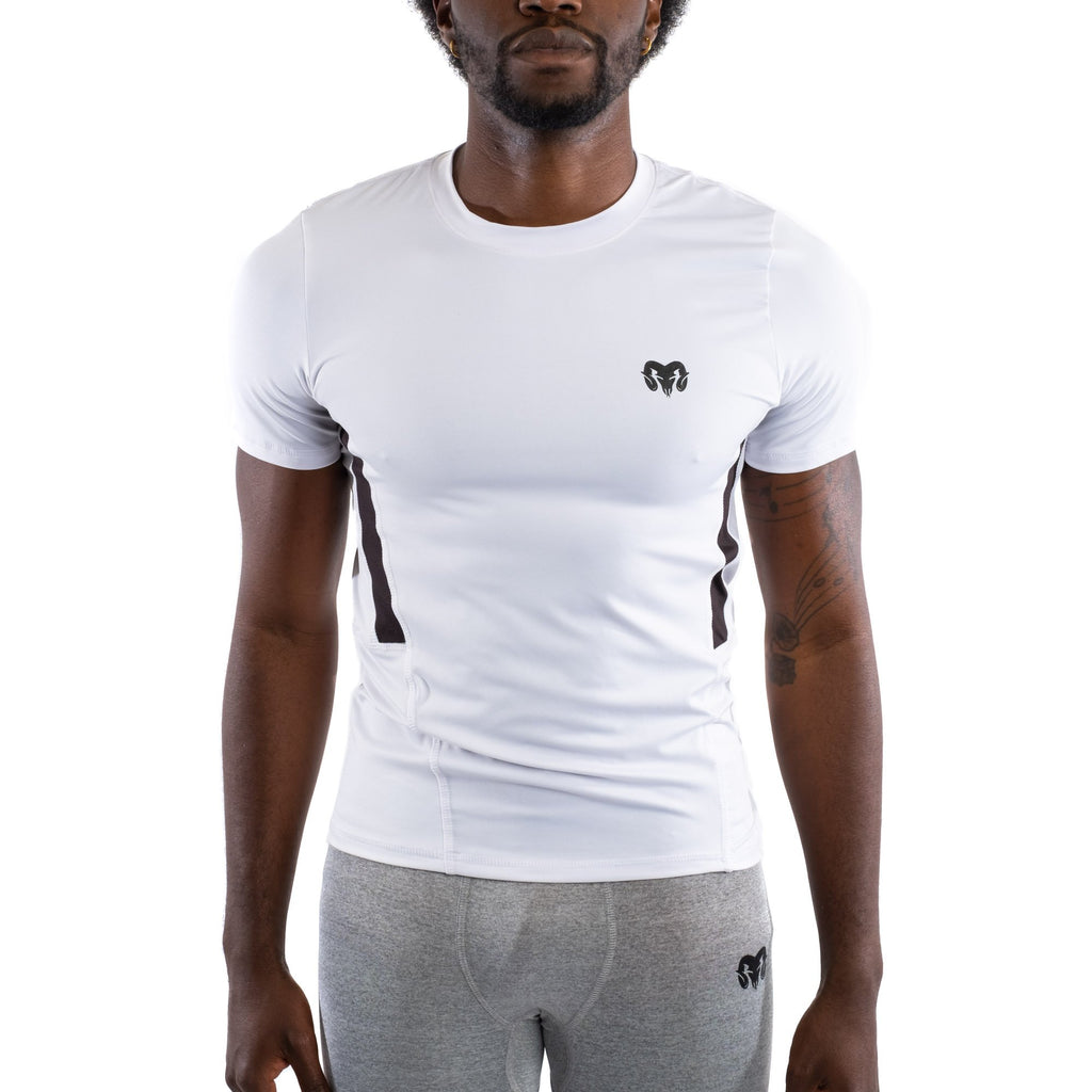Quick Dry Compression Gym T-Shirt, White