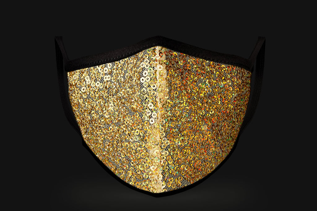 Gold Sequin - Mason Brand Mask