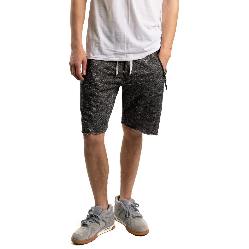 French Terry Shorts, Heather Black