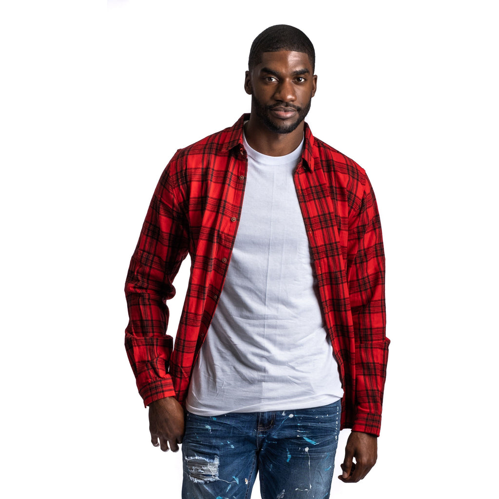 Flannel Shirt, Picnic Red